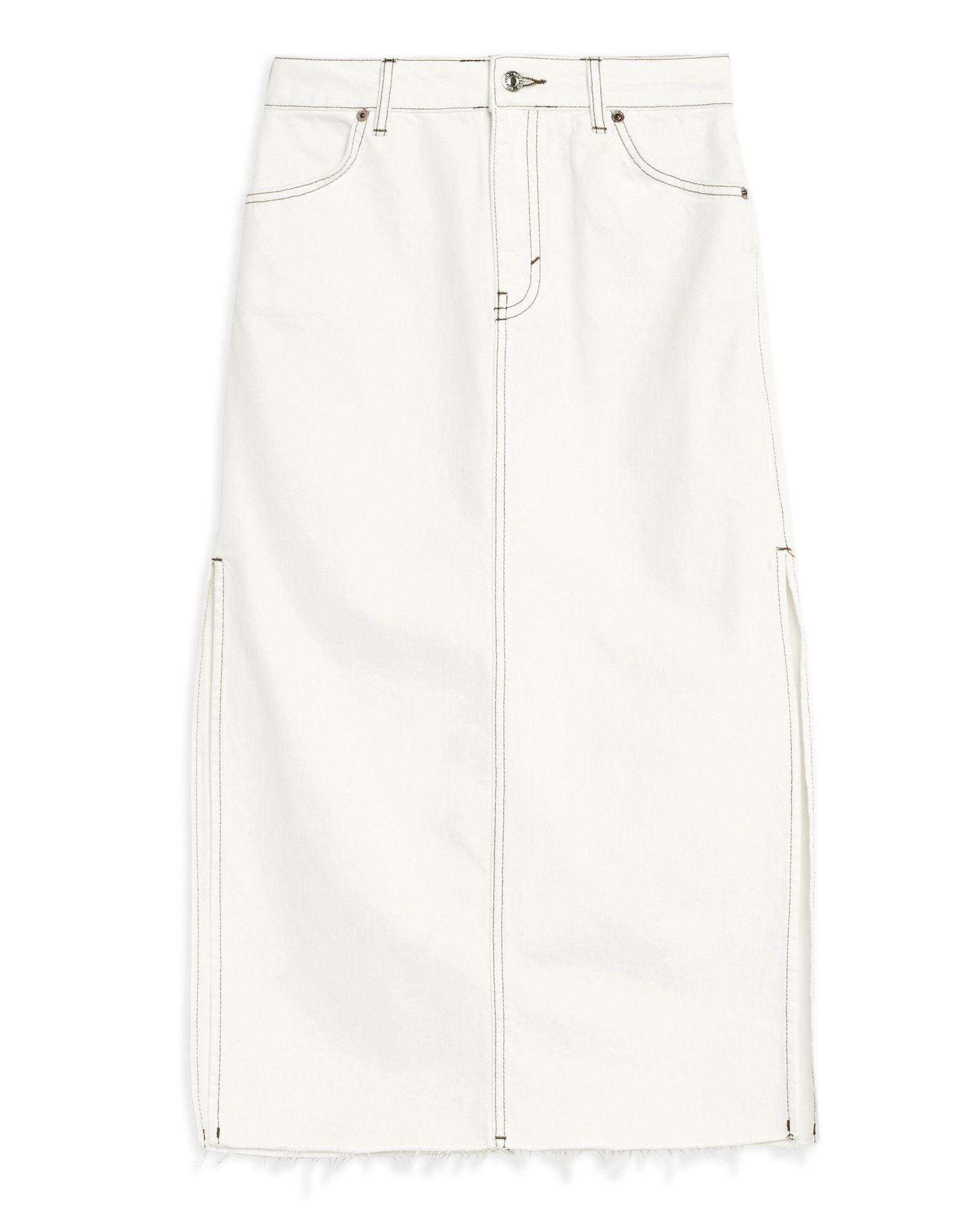TOPSHOP Джинсовая юбка юбка джинсовая с нагрудником и лямками barkito деним голубой