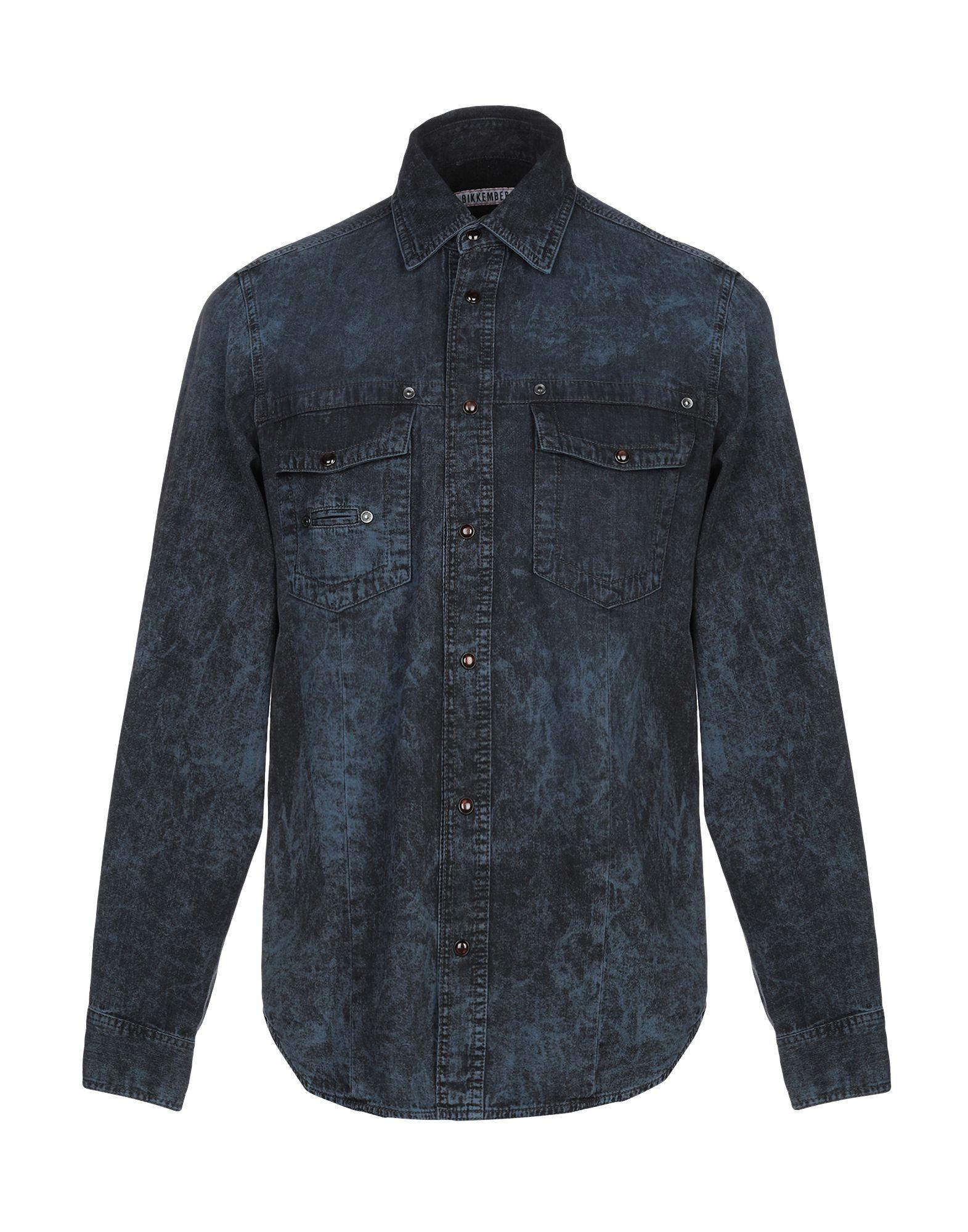 BIKKEMBERGS Джинсовая рубашка рубашка bikkembergs