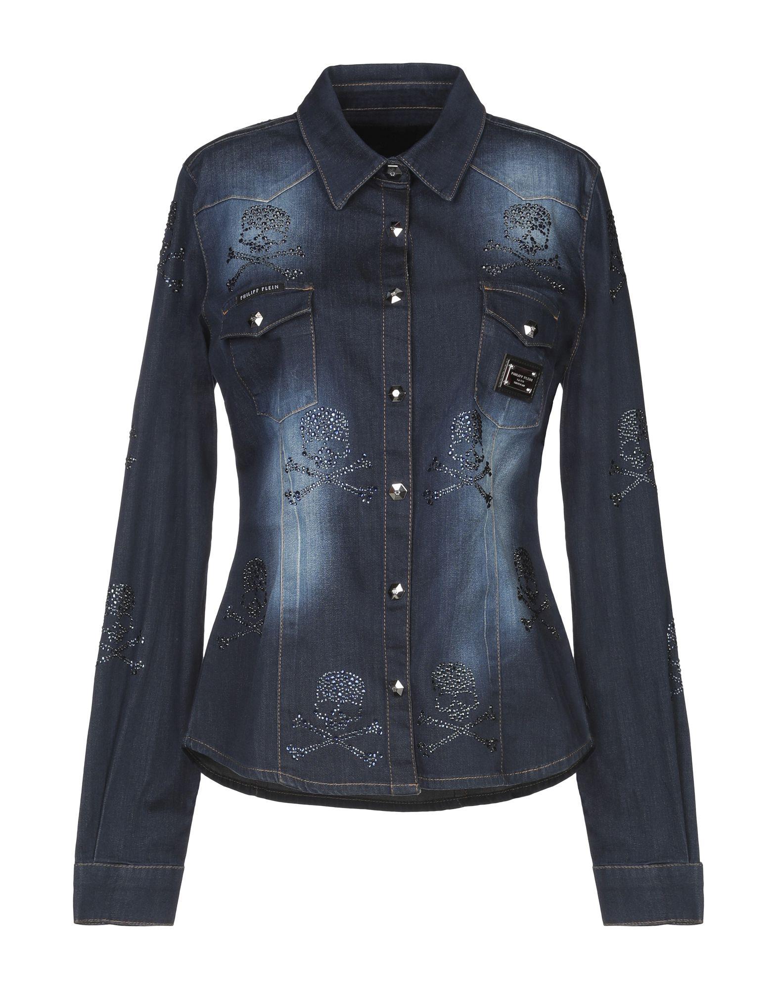 купить PHILIPP PLEIN Джинсовая рубашка по цене 26200 рублей