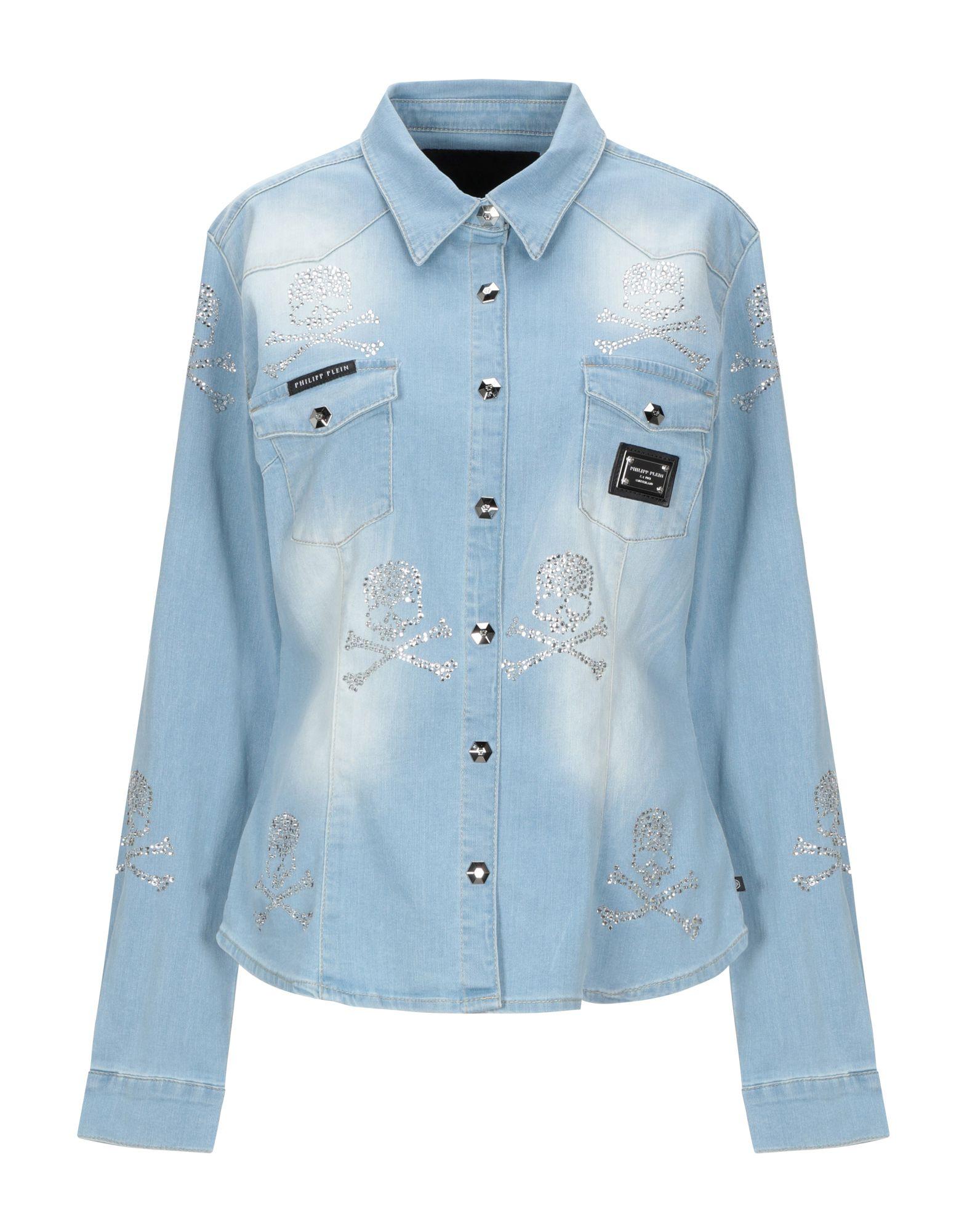 купить PHILIPP PLEIN Джинсовая рубашка по цене 30800 рублей