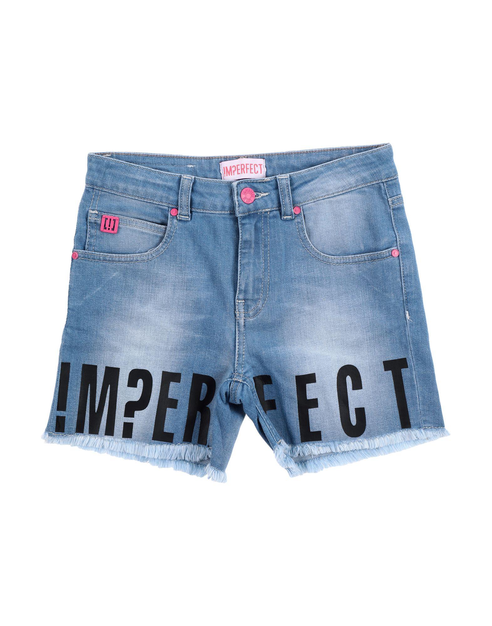 !m?erfect Kids'  Denim Shorts In Blue