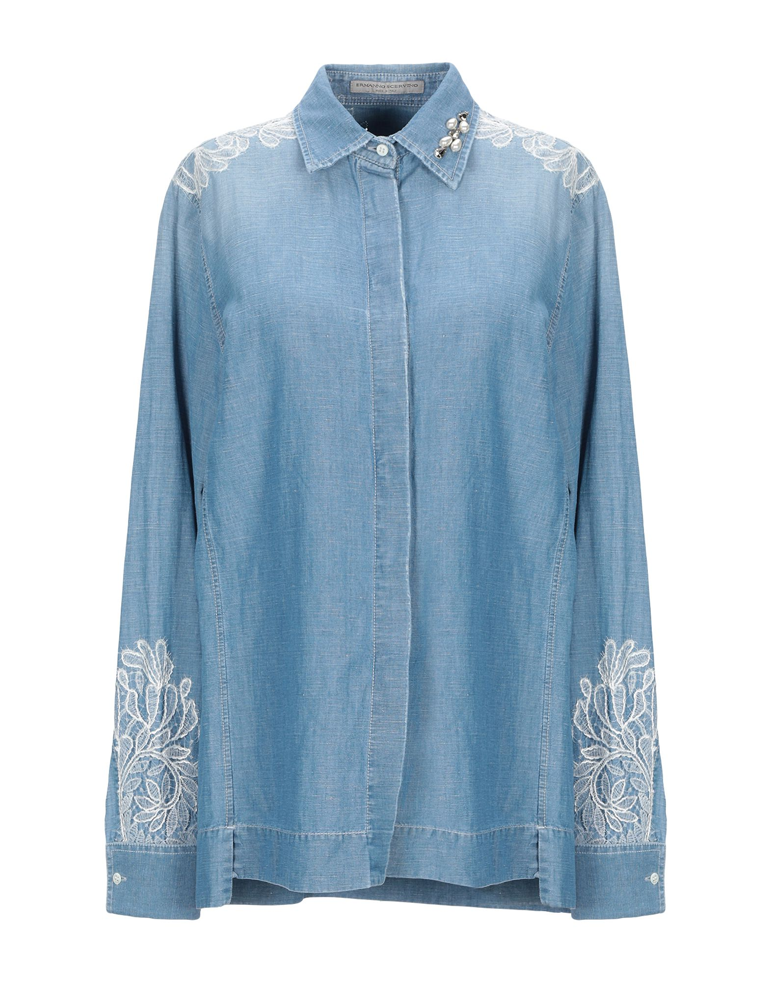 ERMANNO SCERVINO Джинсовая рубашка цена и фото