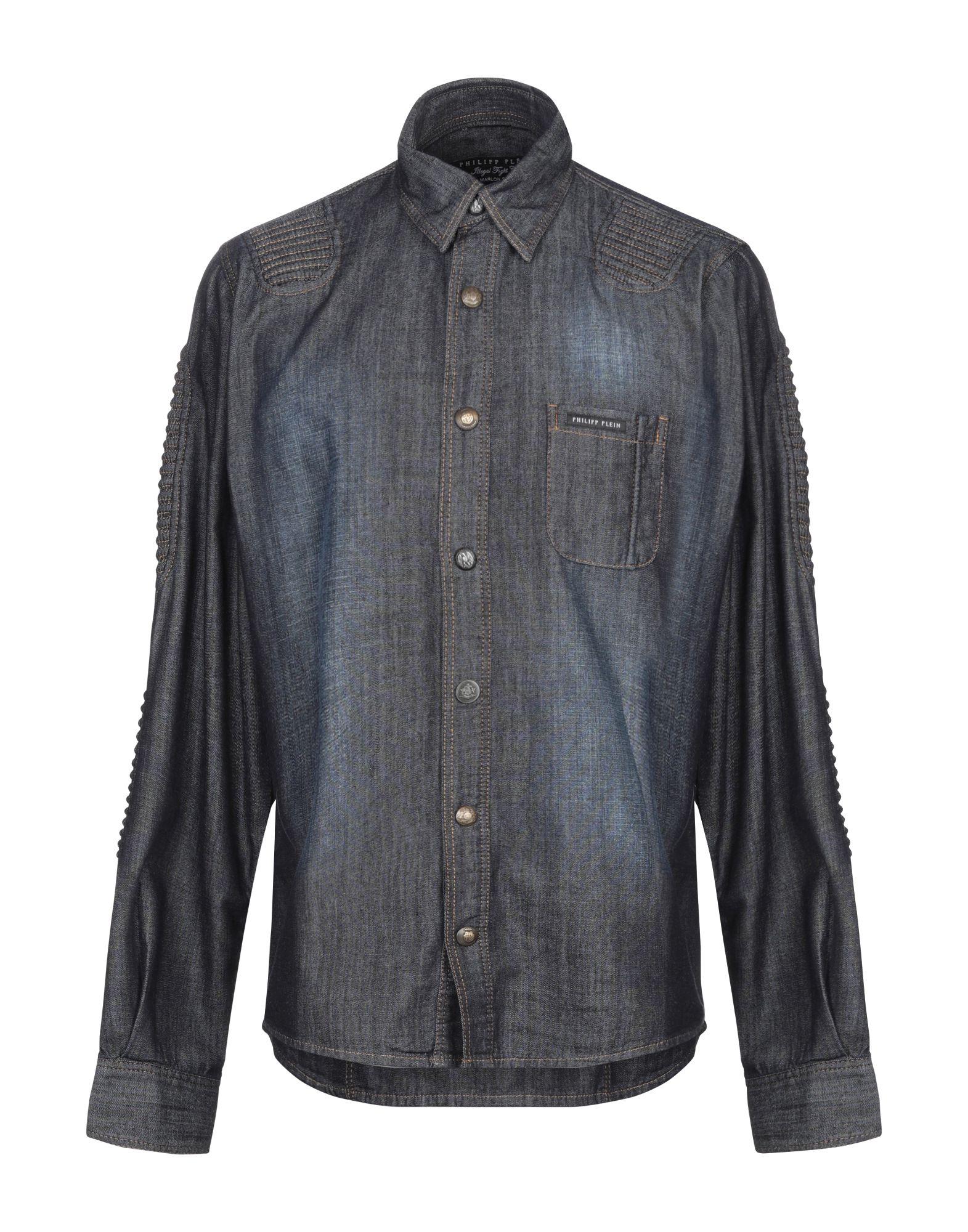 купить PHILIPP PLEIN Джинсовая рубашка по цене 18600 рублей