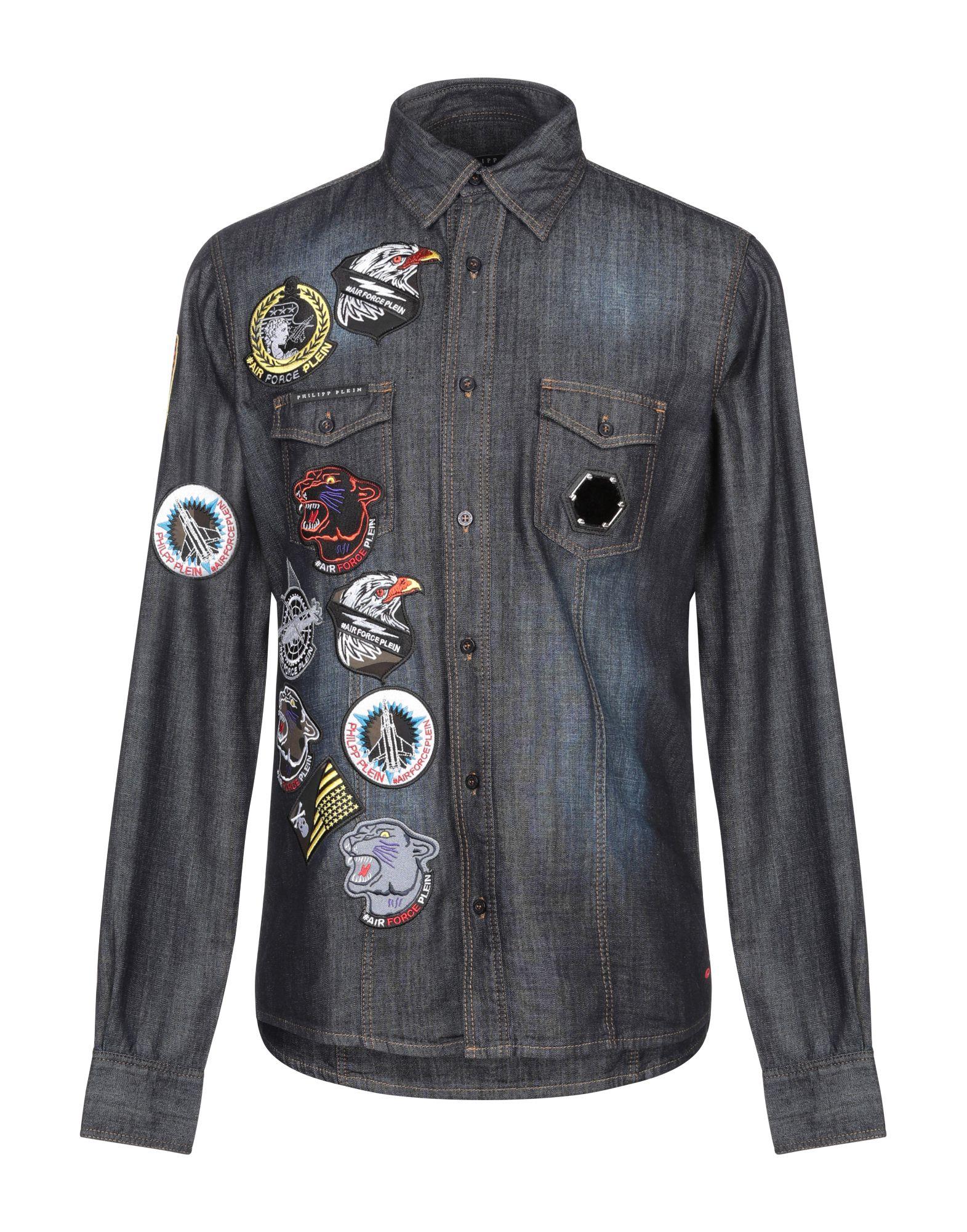 купить PHILIPP PLEIN Джинсовая рубашка по цене 20100 рублей