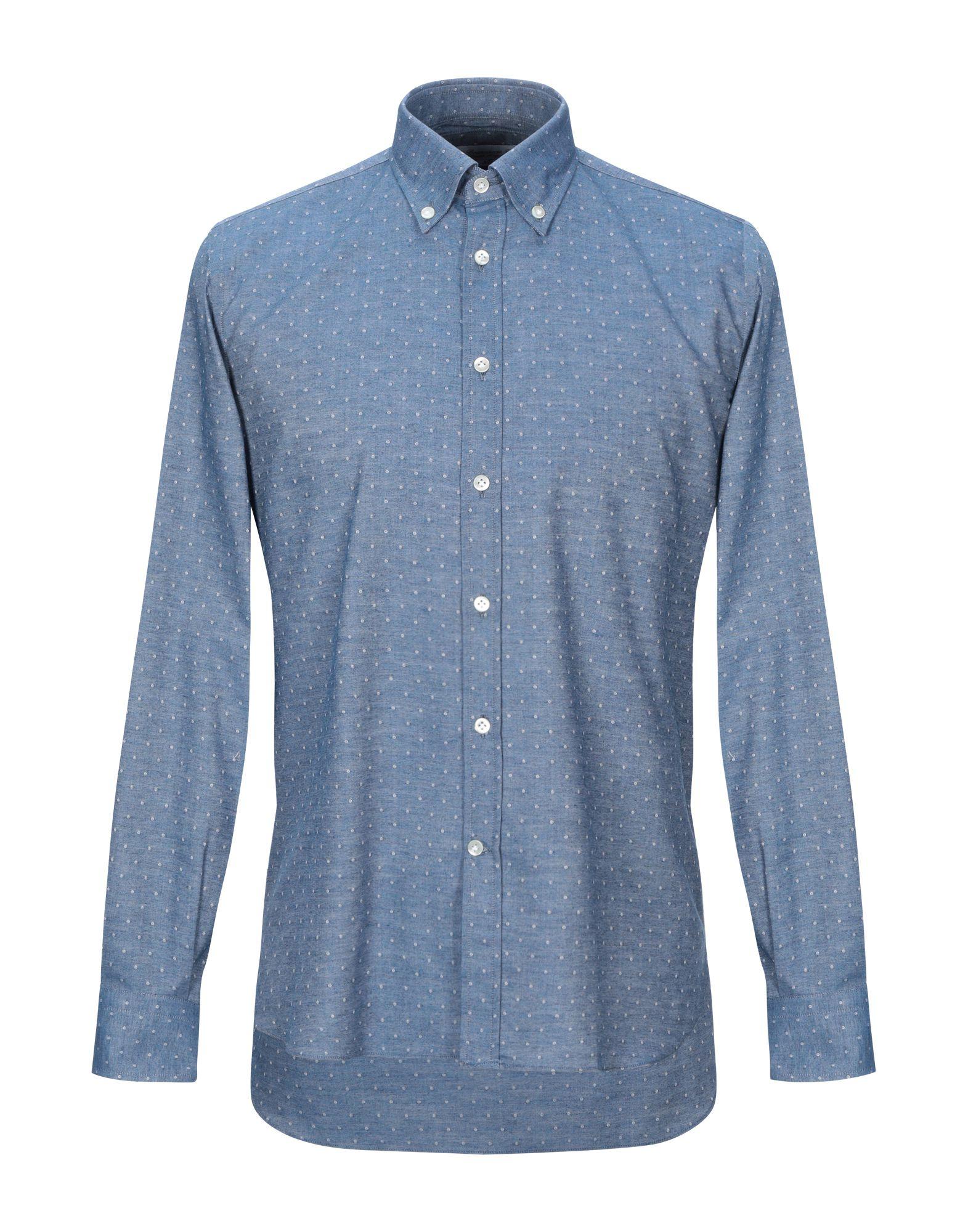 BRANCACCIO C. Джинсовая рубашка burberry джинсовая рубашка