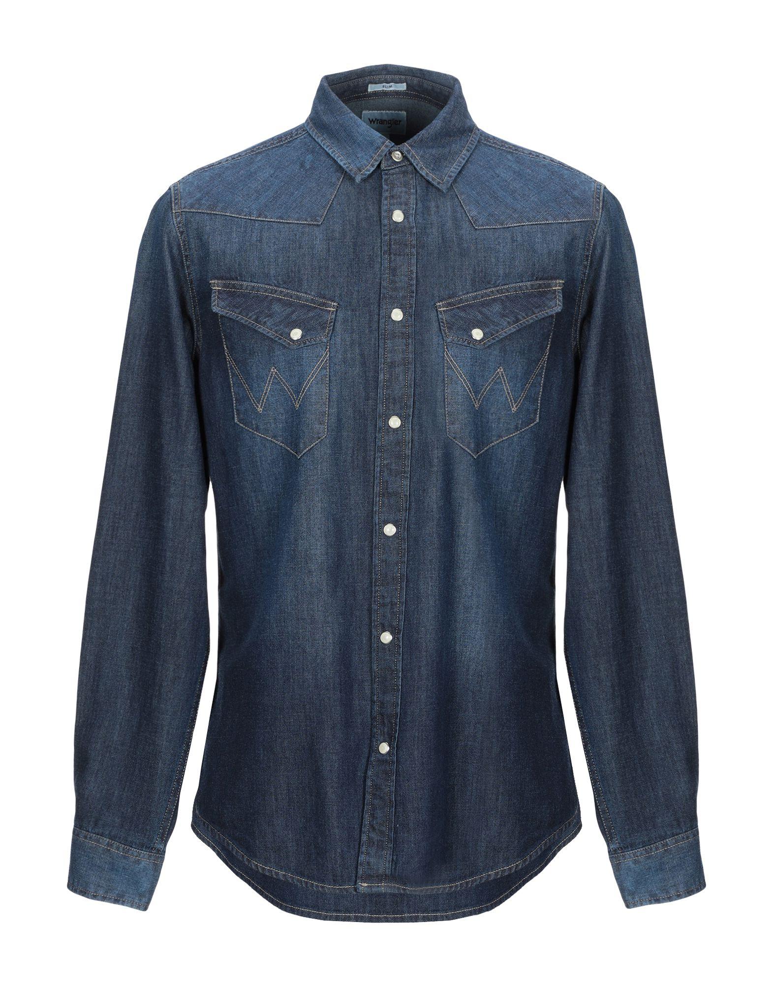 Фото - WRANGLER Джинсовая рубашка рубашка wrangler рубашка