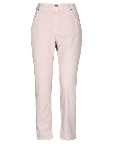 Фото - Джинсовые брюки пастельно-розового цвета