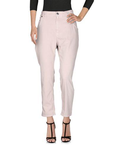 Фото 2 - Джинсовые брюки пастельно-розового цвета