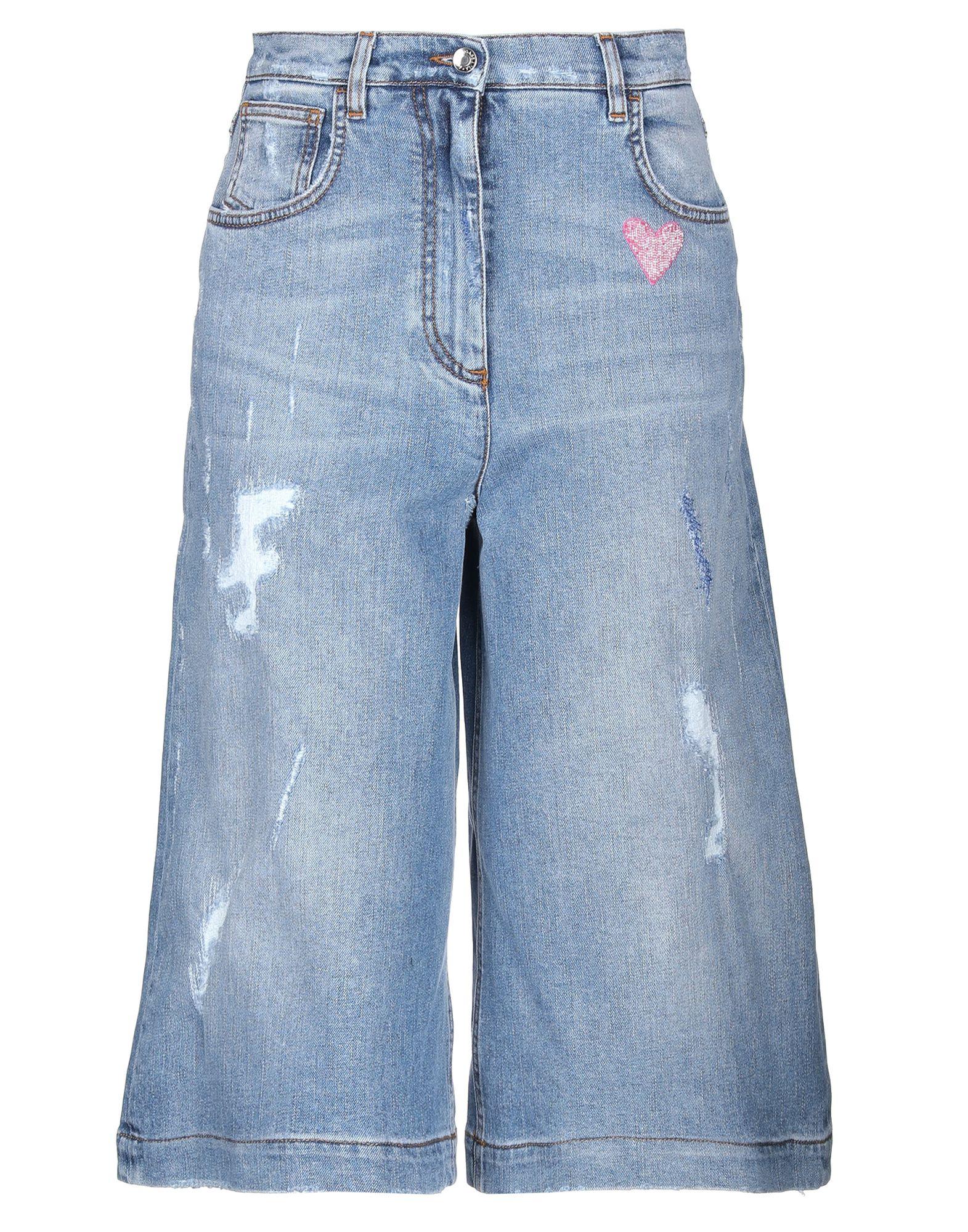 купить DOLCE & GABBANA Джинсовые брюки-капри по цене 35500 рублей