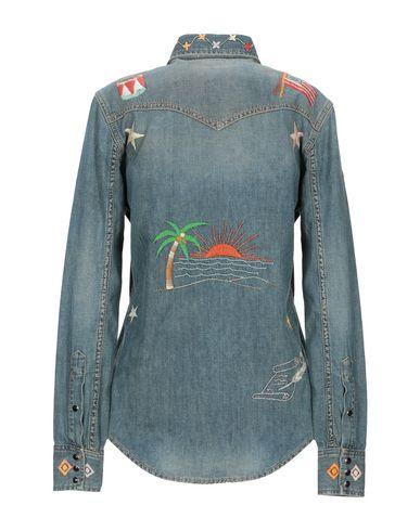 Фото 2 - Джинсовая рубашка синего цвета