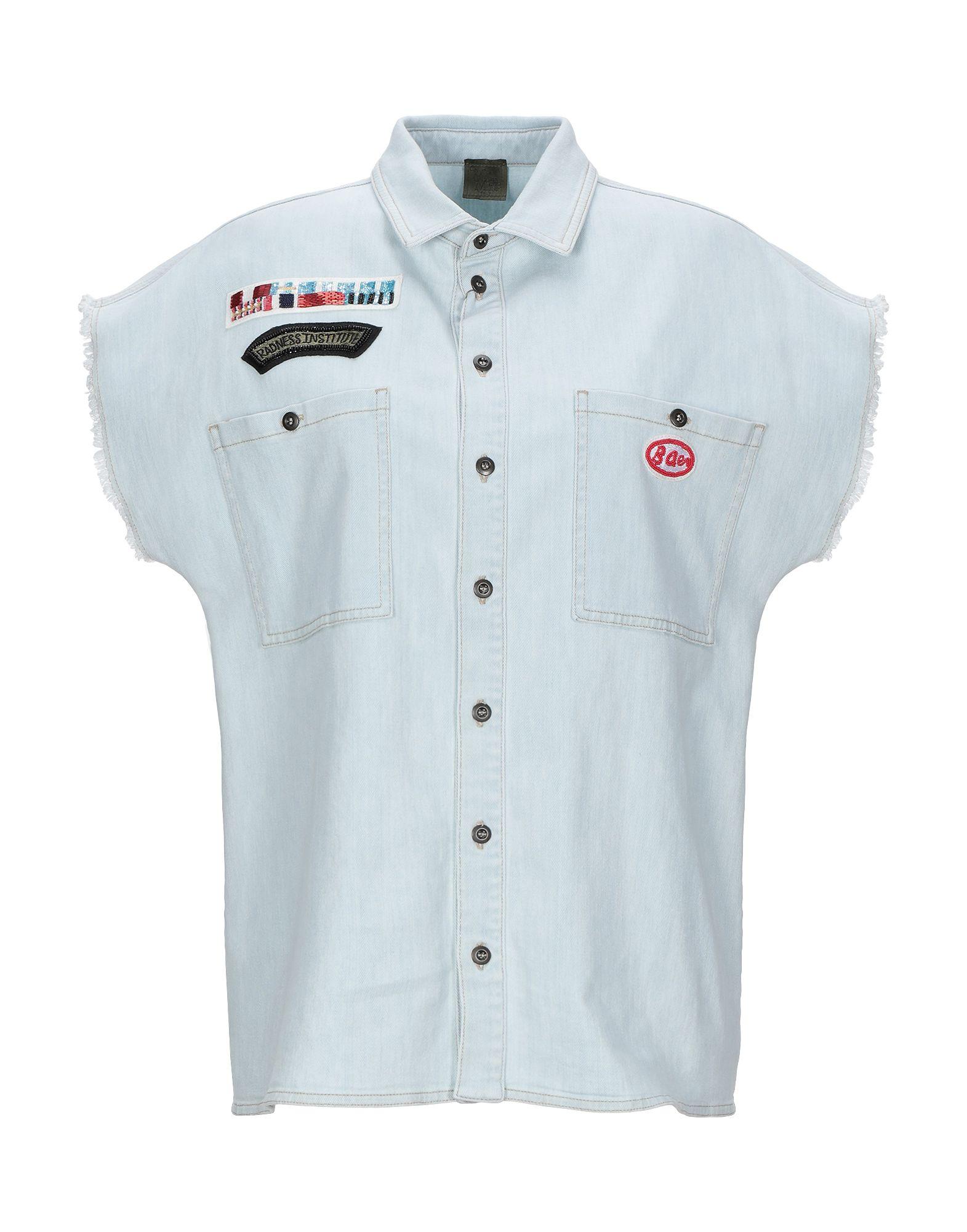 MR & MRS ITALY Джинсовая рубашка цена