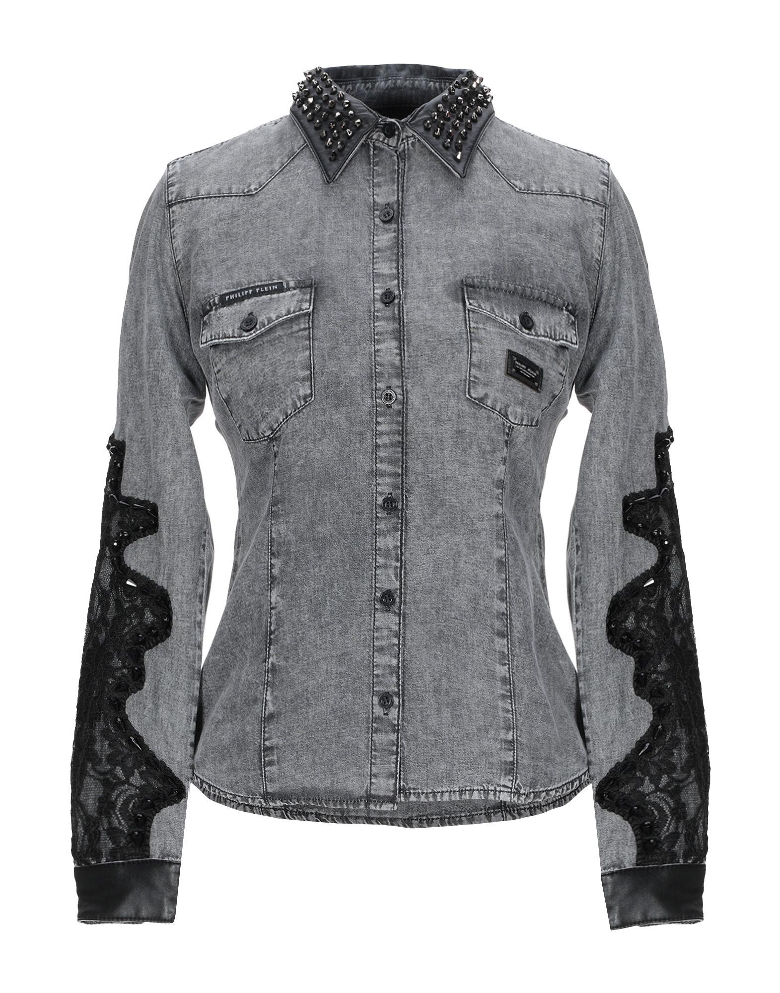 купить PHILIPP PLEIN Джинсовая рубашка по цене 25350 рублей