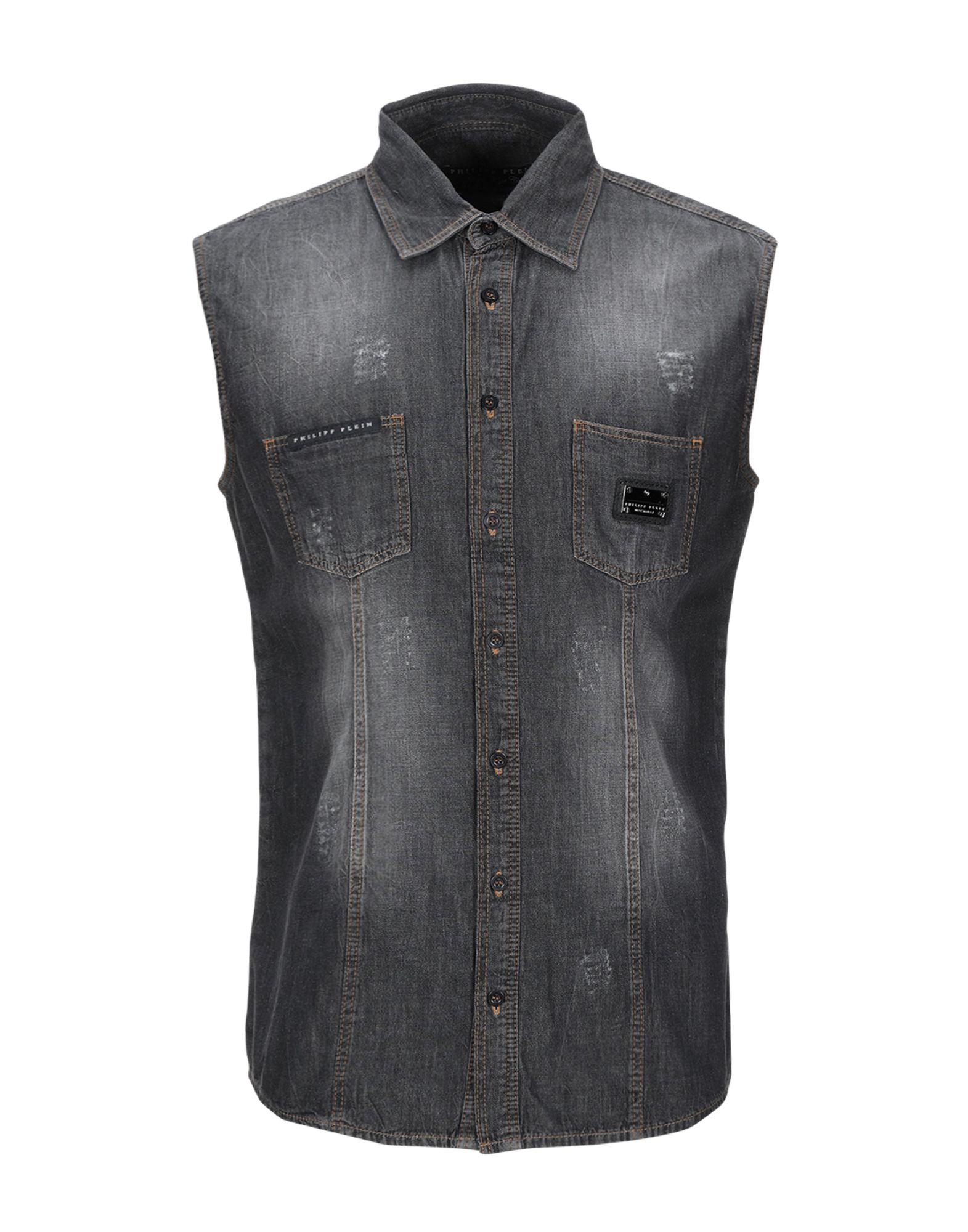 купить PHILIPP PLEIN Джинсовая рубашка по цене 14800 рублей