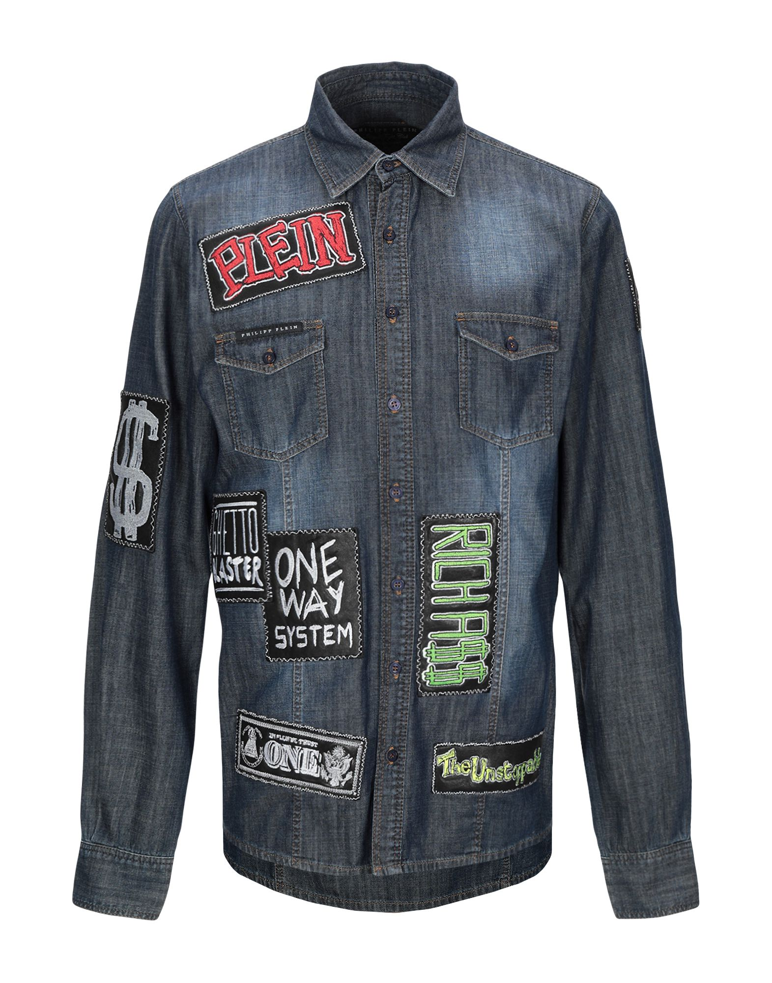 купить PHILIPP PLEIN Джинсовая рубашка по цене 21900 рублей