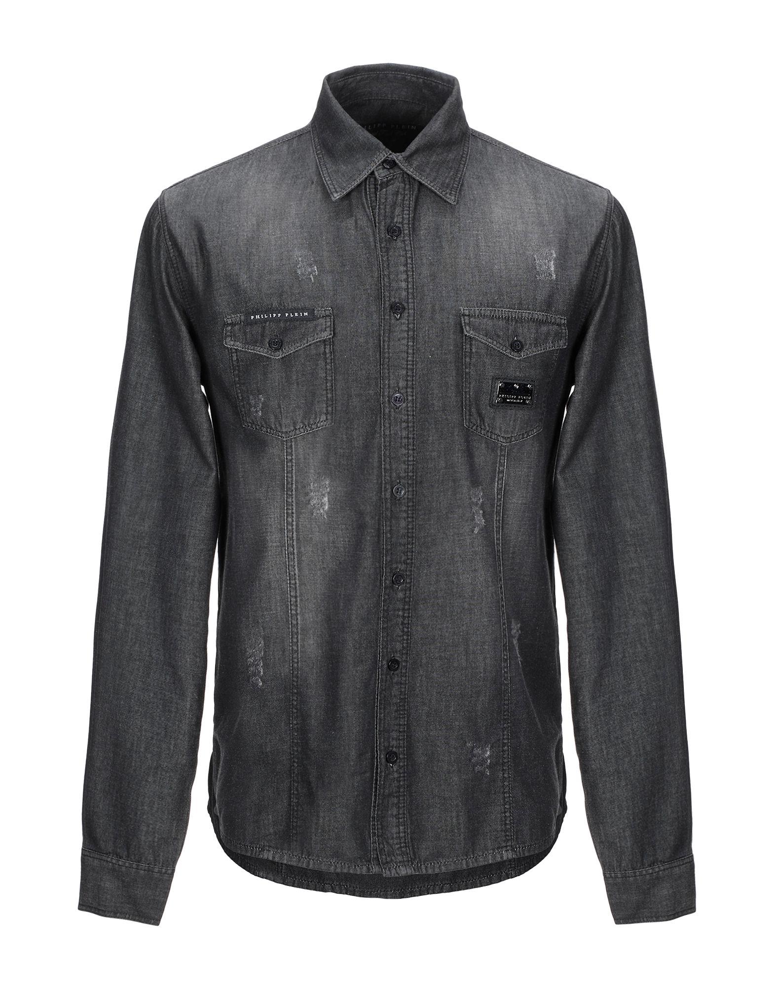 купить PHILIPP PLEIN Джинсовая рубашка по цене 19650 рублей