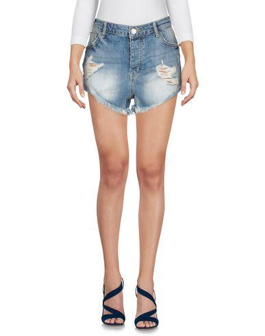 Фото 2 - Джинсовые шорты синего цвета