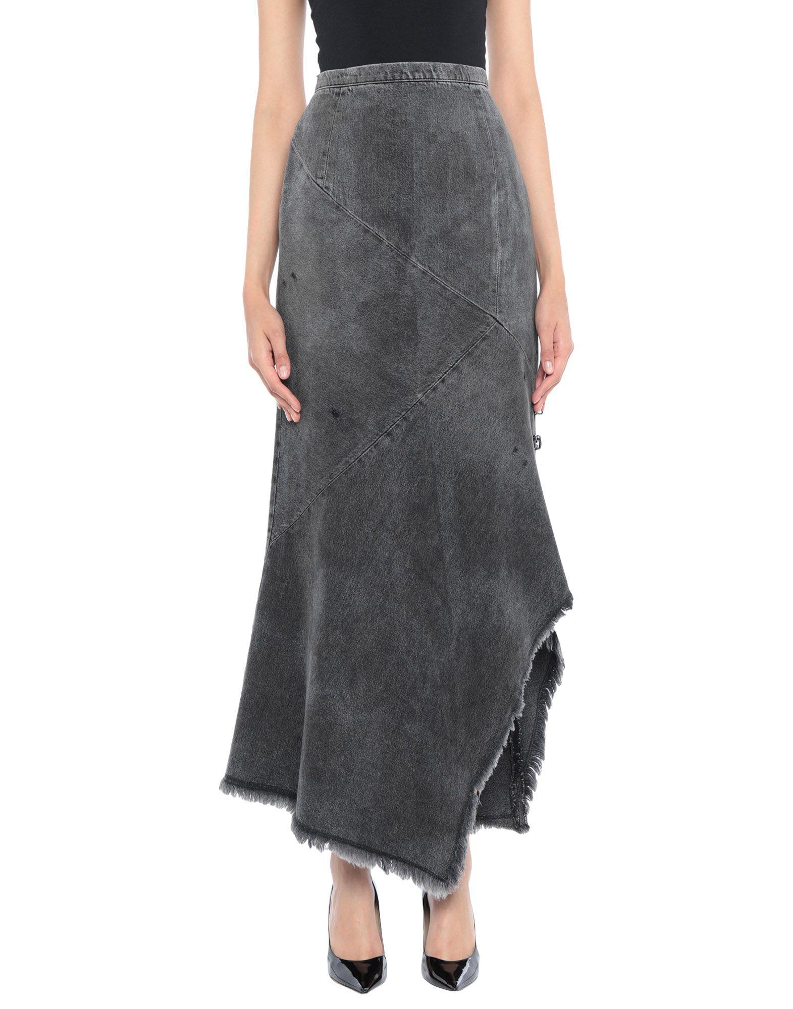 《期間限定セール開催中!》OLIVIER THEYSKENS レディース デニムスカート ブラック 40 コットン 100%