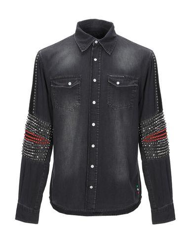 Фото - Джинсовая рубашка черного цвета