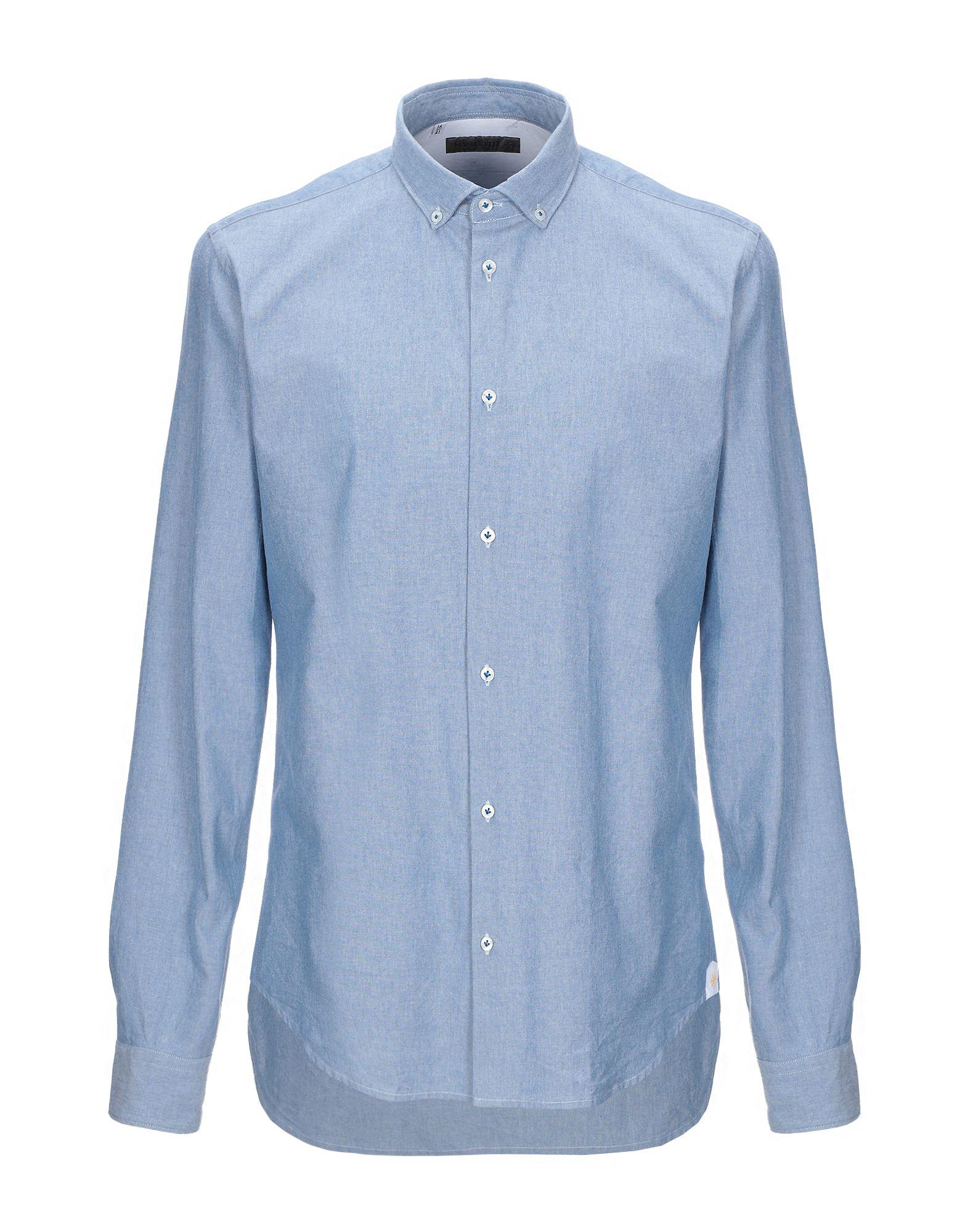 MANUEL RITZ Джинсовая рубашка burberry джинсовая рубашка