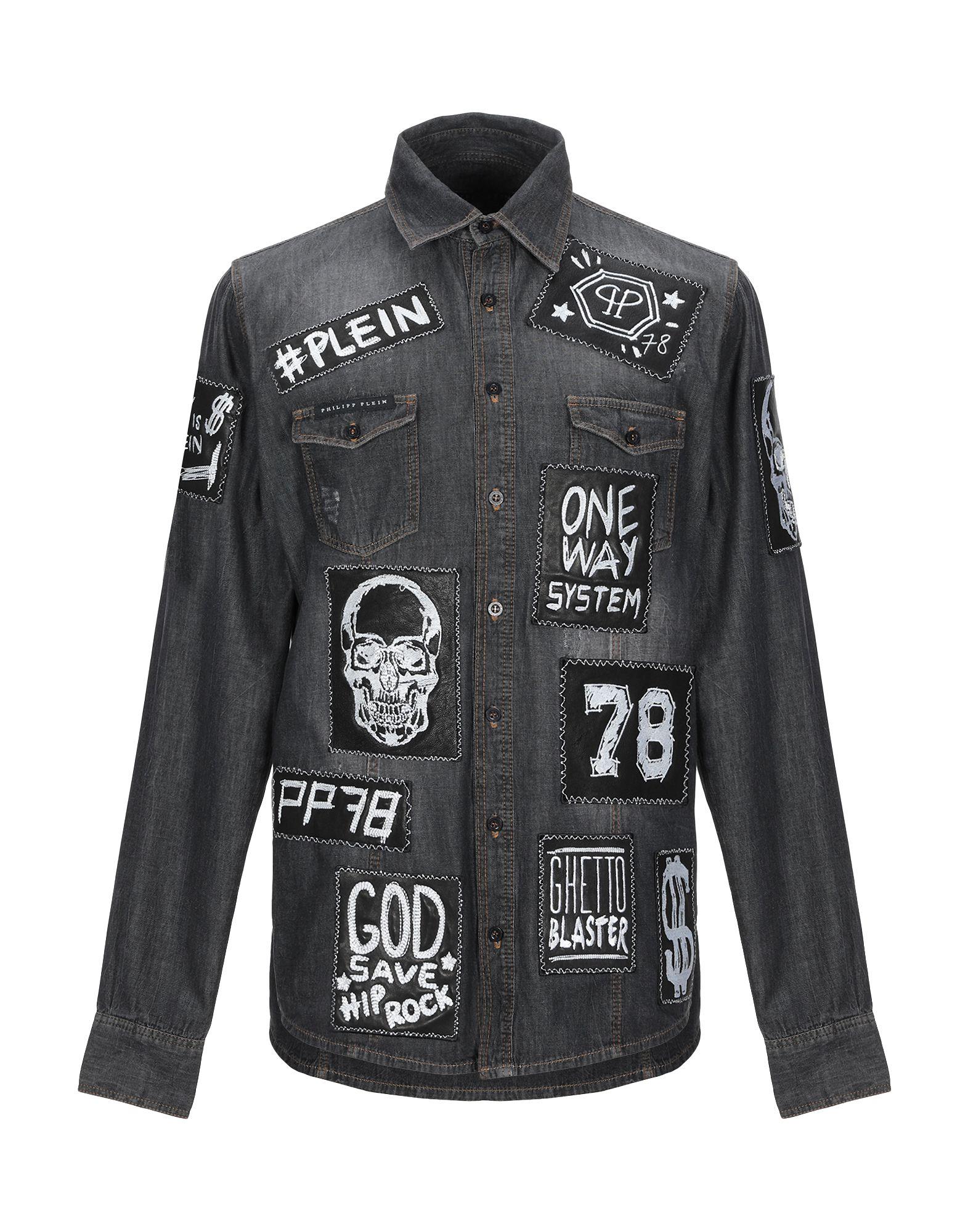 купить PHILIPP PLEIN Джинсовая рубашка по цене 28750 рублей