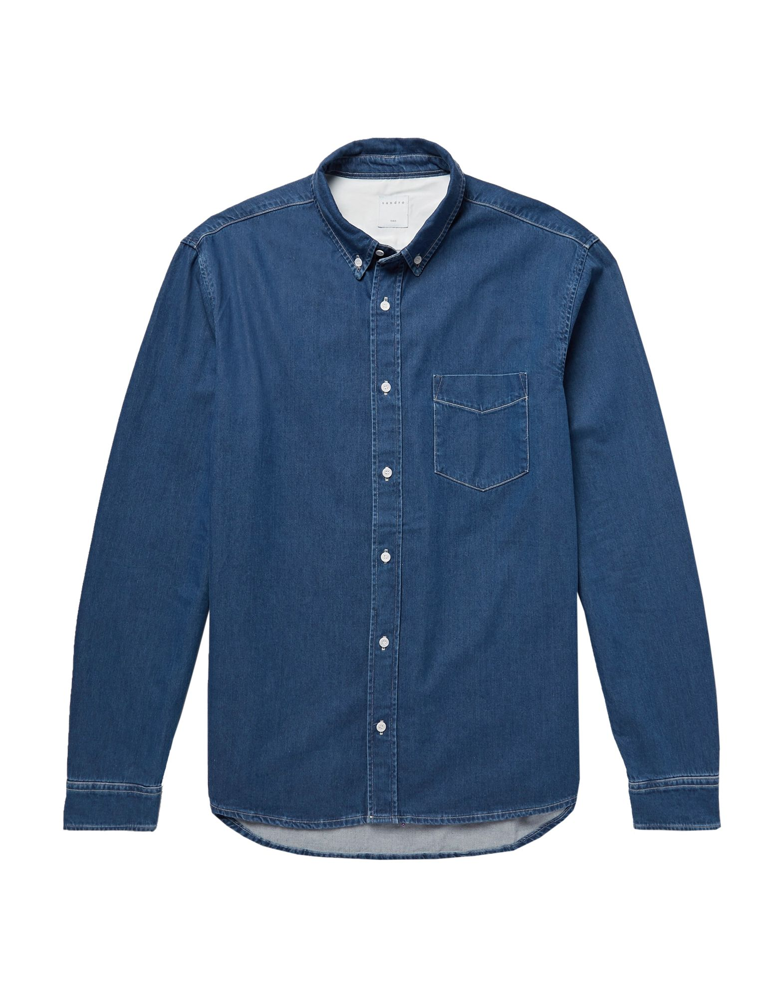 Фото - SANDRO Джинсовая рубашка sandro джинсовая юбка