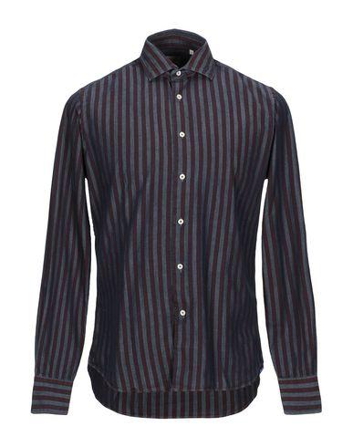 Фото - Джинсовая рубашка от XACUS цвет баклажанный