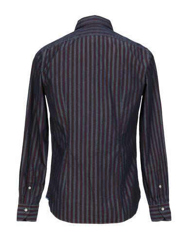 Фото 2 - Джинсовая рубашка от XACUS цвет баклажанный