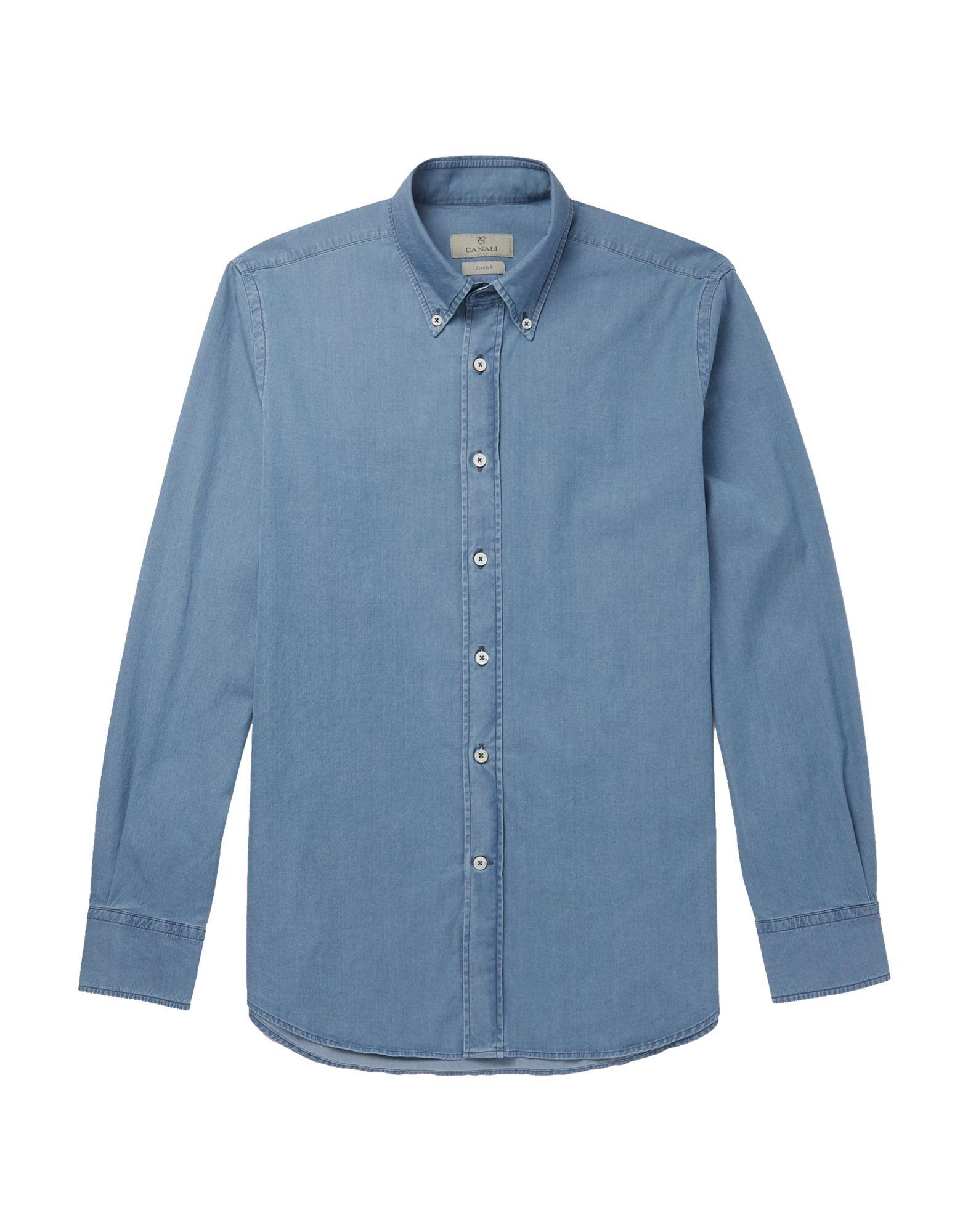 CANALI Джинсовая рубашка рубашка canali