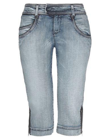 Фото - Джинсовые брюки-капри синего цвета
