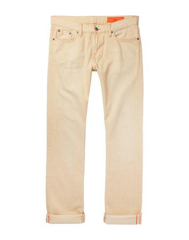 Фото - Джинсовые брюки от JEAN SHOP бежевого цвета