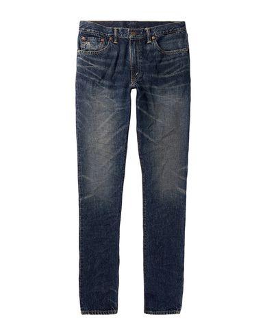 Фото - Джинсовые брюки от RRL by RALPH LAUREN синего цвета