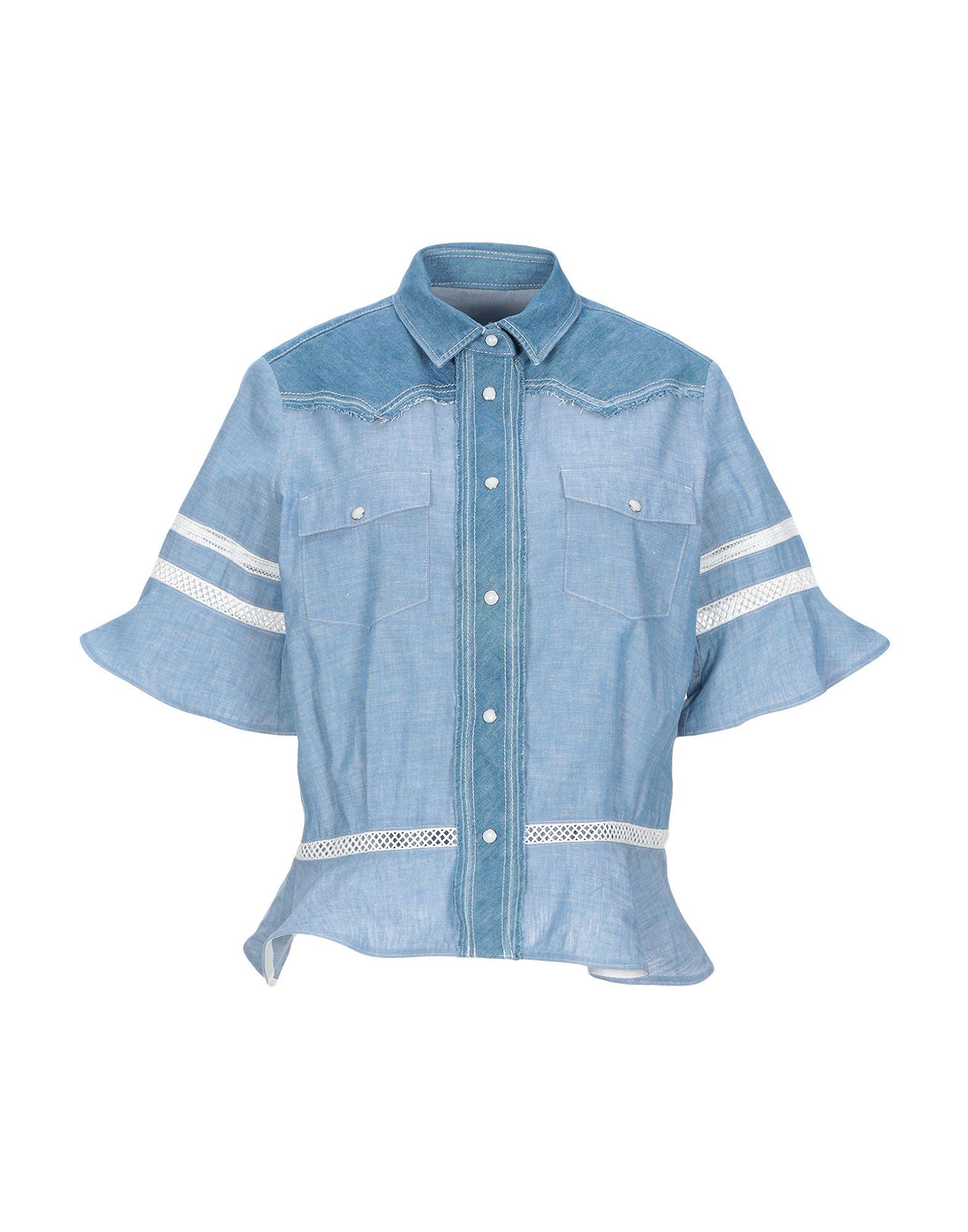 купить SACAI Джинсовая рубашка по цене 29000 рублей
