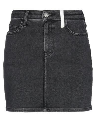 Фото - Джинсовая юбка серого цвета