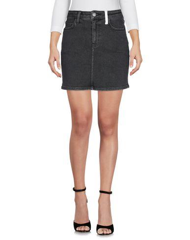 Фото 2 - Джинсовая юбка серого цвета