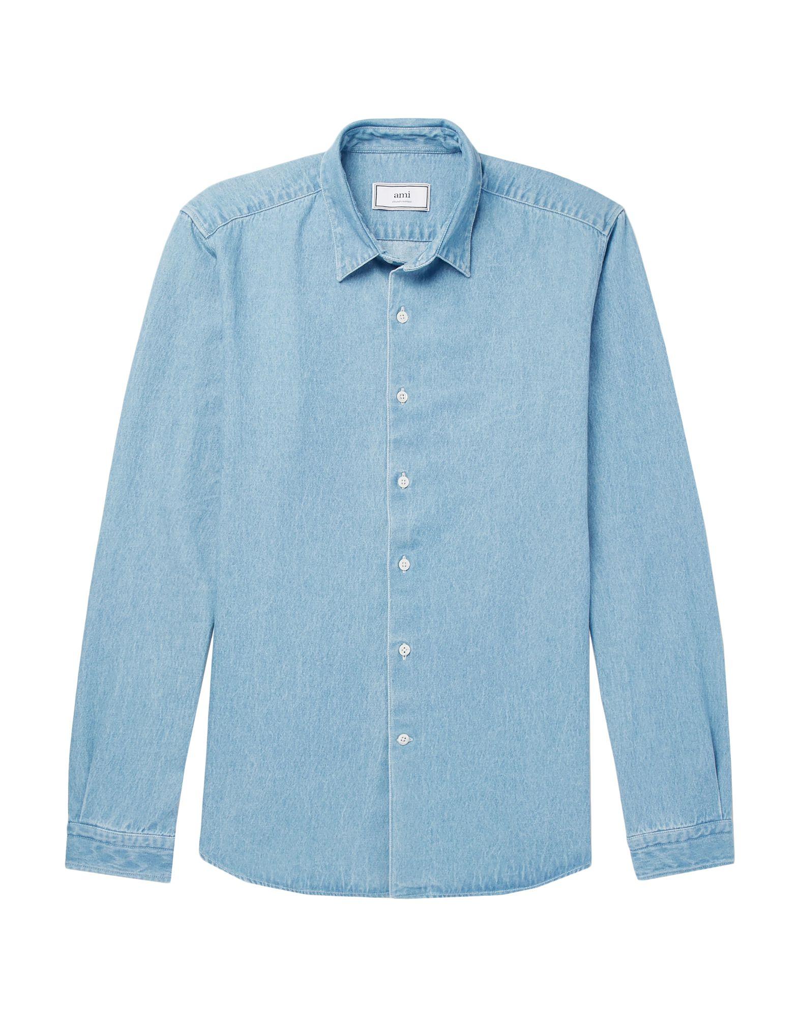 《期間限定セール開催中!》AMI ALEXANDRE MATTIUSSI メンズ デニムシャツ ブルー XS コットン 100%