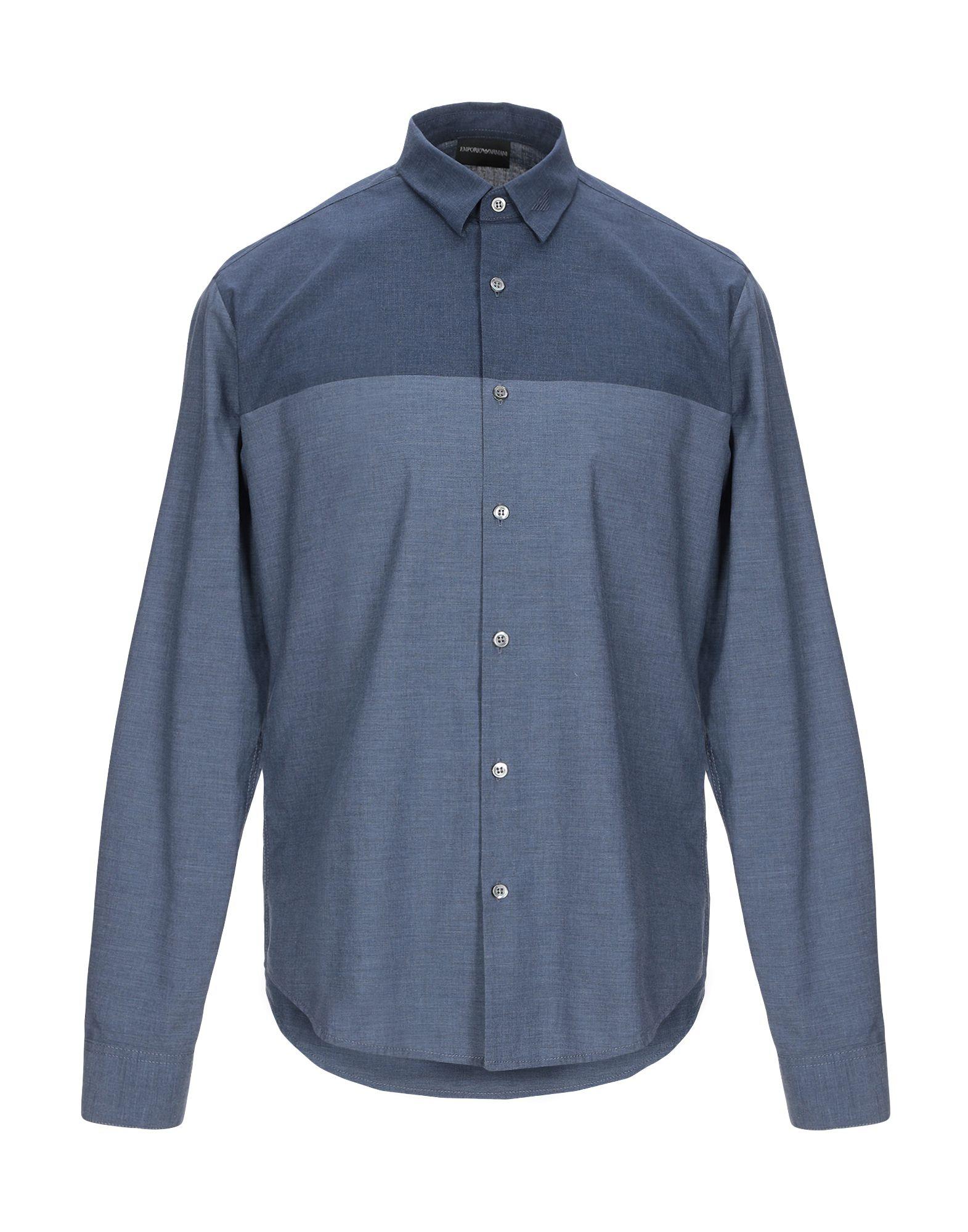 EMPORIO ARMANI Джинсовая рубашка цена 2017