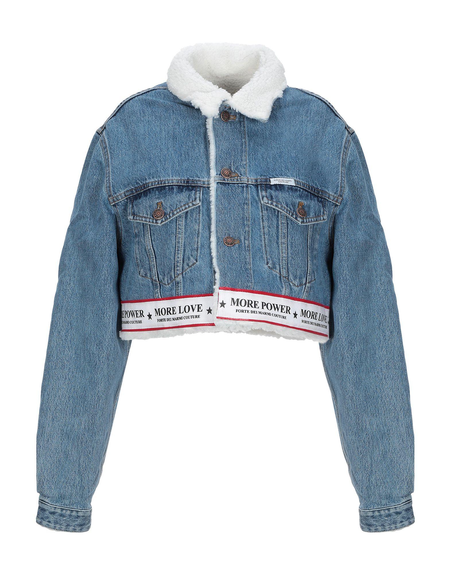 FORTE DEI MARMI COUTURE Джинсовая верхняя одежда forte couture джинсовая куртка с вышивкой на спине