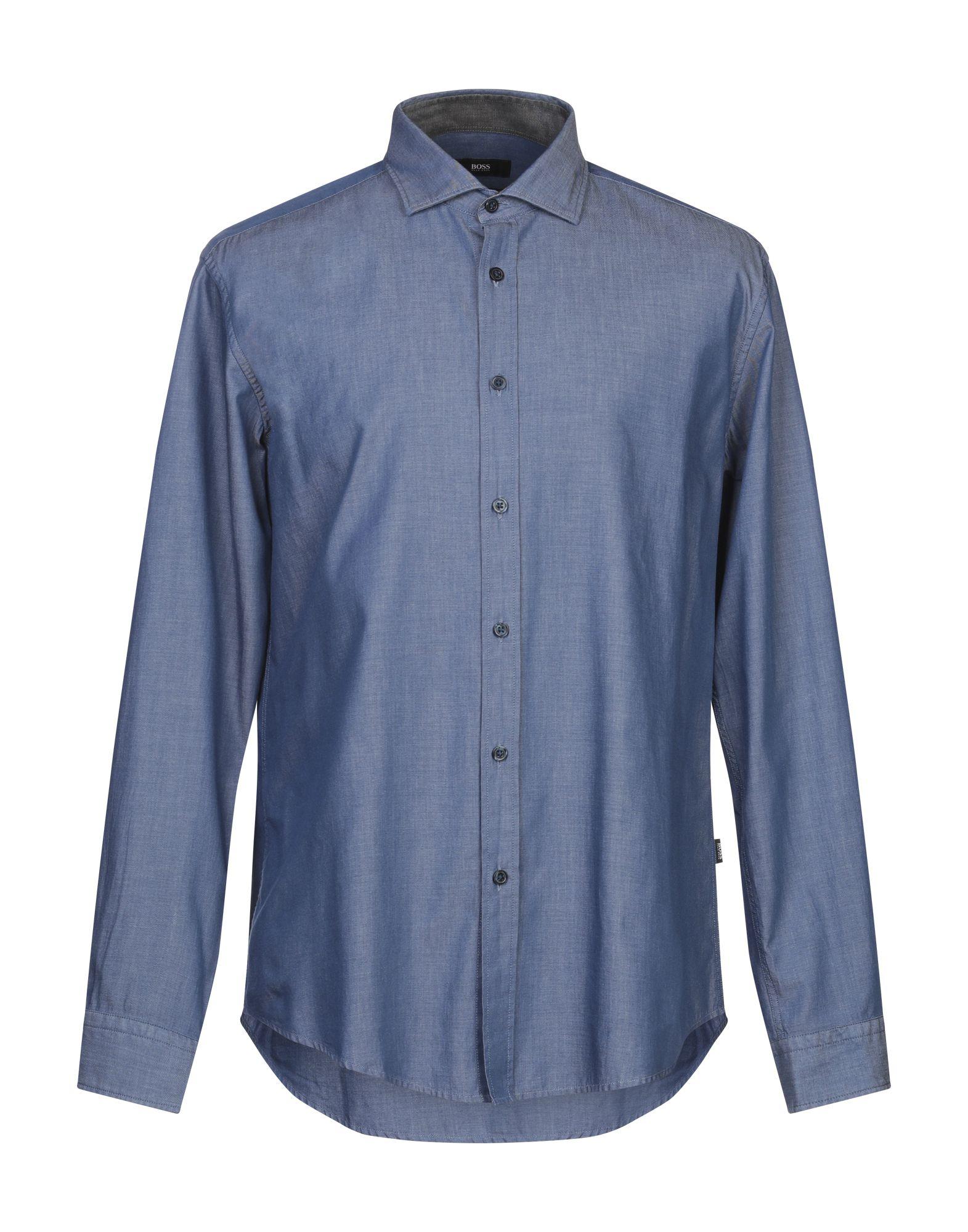 BOSS HUGO BOSS Джинсовая рубашка цена 2017