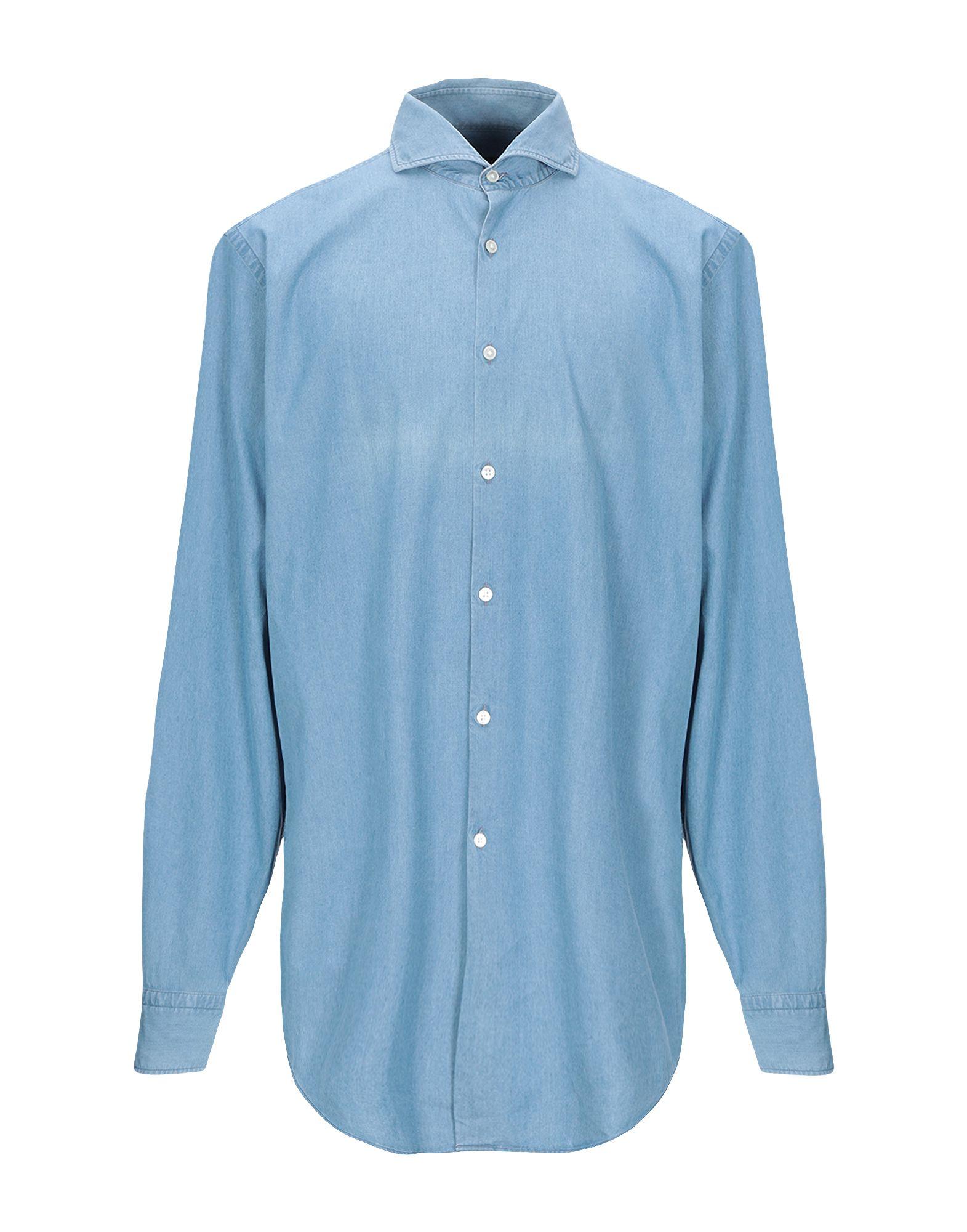 BOSS HUGO BOSS Джинсовая рубашка цена