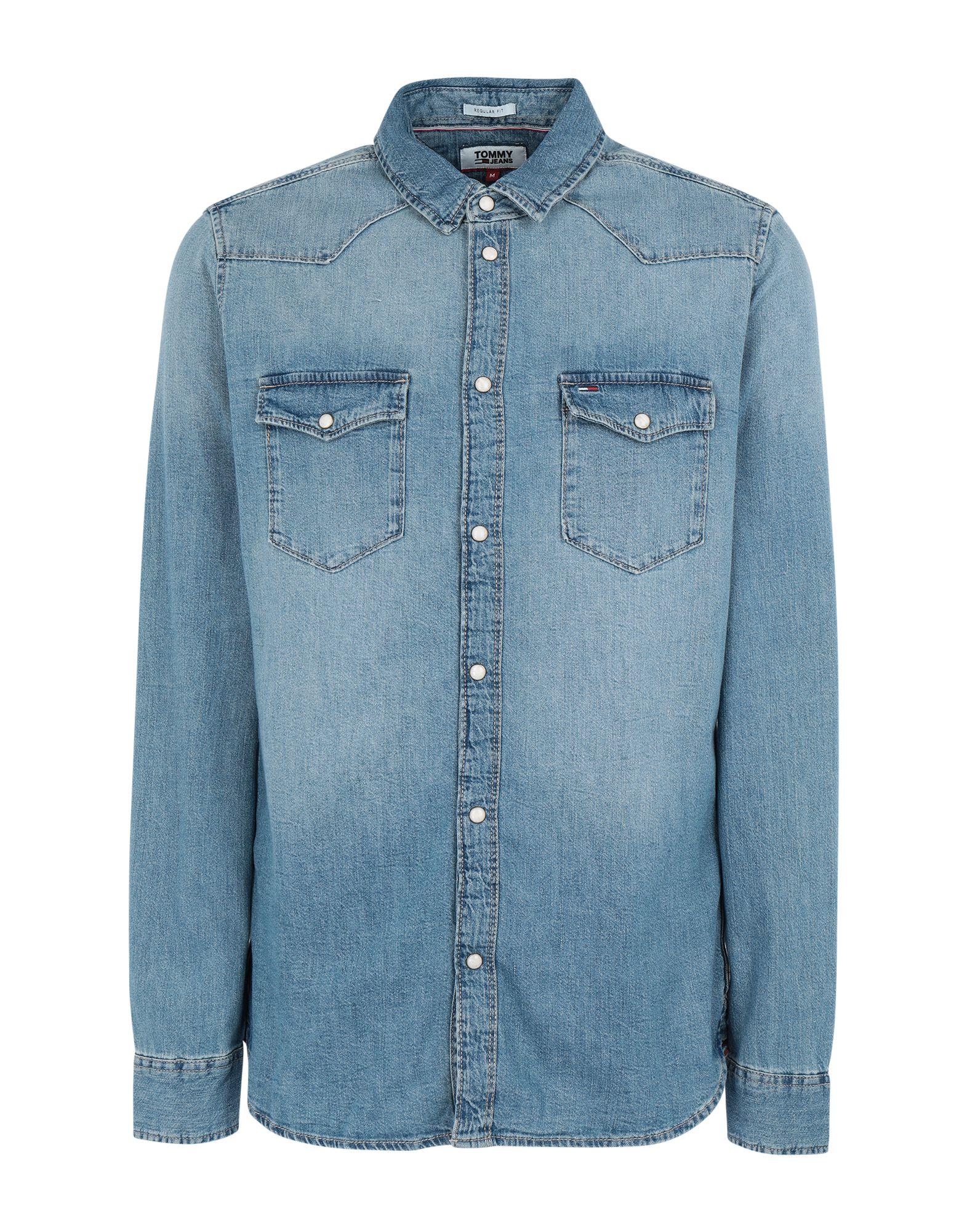 TOMMY JEANS Джинсовая рубашка tommy jeans джинсовая рубашка