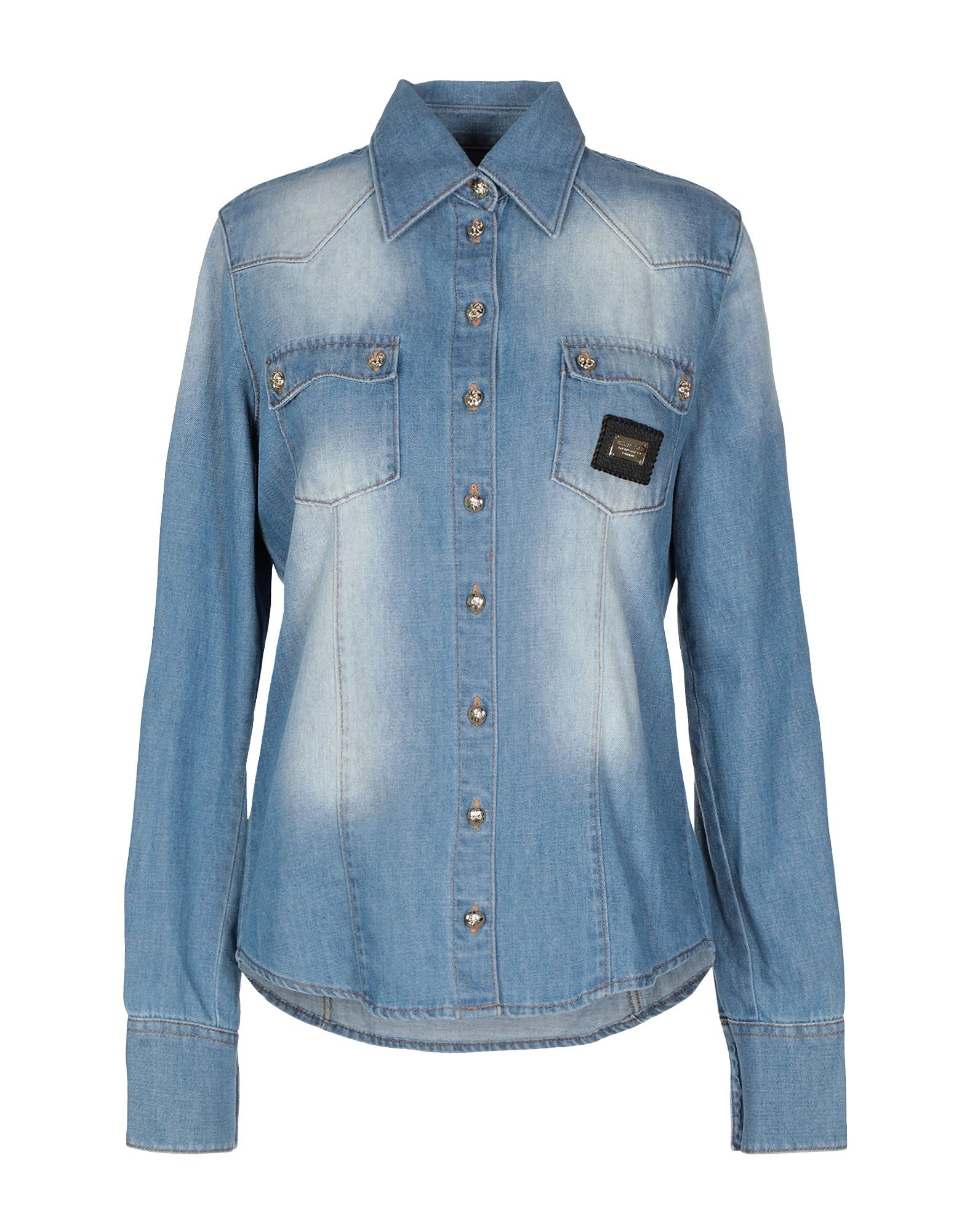 купить PHILIPP PLEIN Джинсовая рубашка по цене 29100 рублей