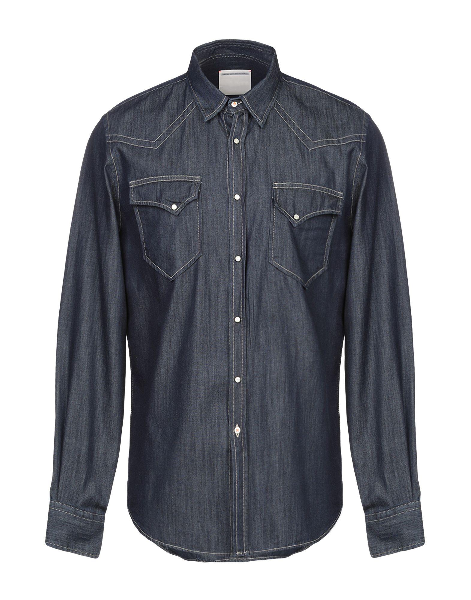 《セール開催中》PMDS PREMIUM MOOD DENIM SUPERIOR メンズ デニムシャツ ブルー L コットン 100%