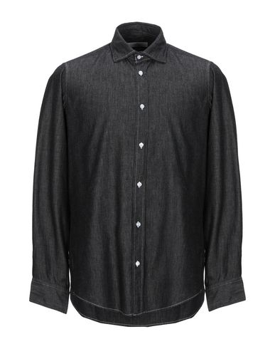 Фото - Джинсовая рубашка от J.W. SAX  Milano черного цвета
