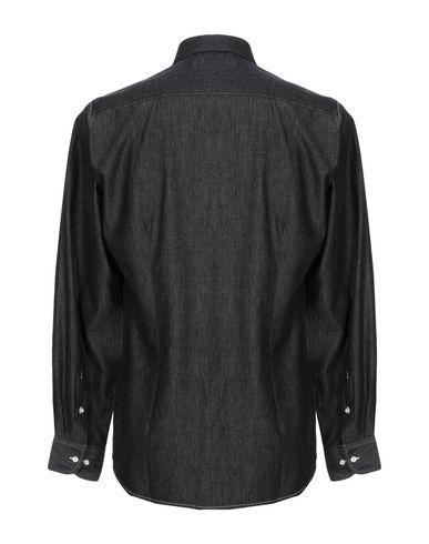Фото 2 - Джинсовая рубашка от J.W. SAX  Milano черного цвета