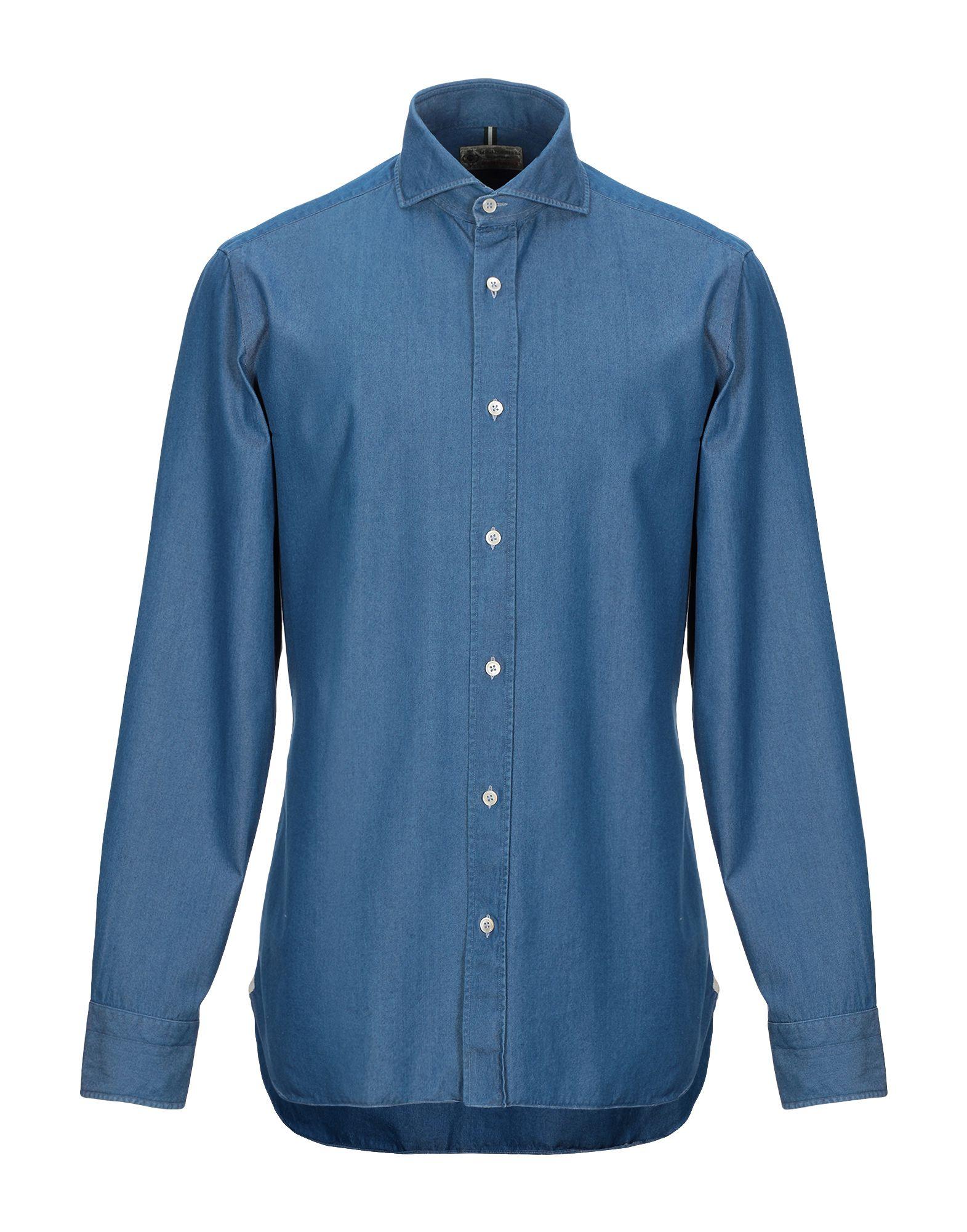 LUIGI BORRELLI NAPOLI Джинсовая рубашка luigi borrelli napoli джинсовая рубашка