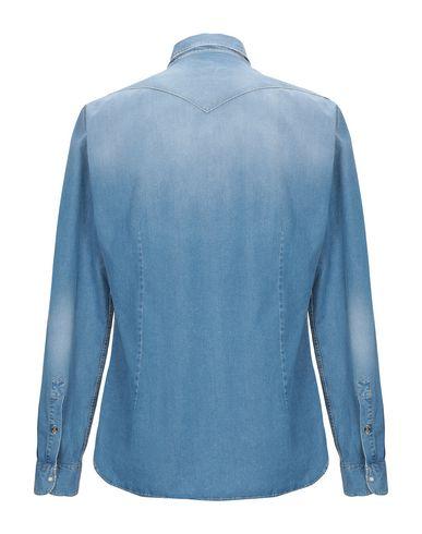 Фото 2 - Джинсовая рубашка от 6167 синего цвета
