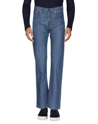 Фото 2 - Джинсовые брюки от MARCO PESCAROLO синего цвета