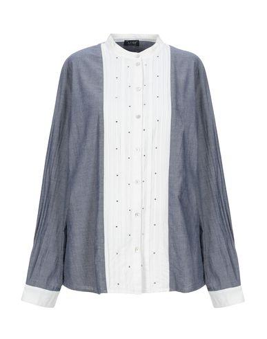 Фото - Джинсовая рубашка грифельно-синего цвета