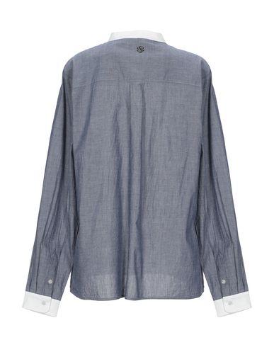 Фото 2 - Джинсовая рубашка грифельно-синего цвета