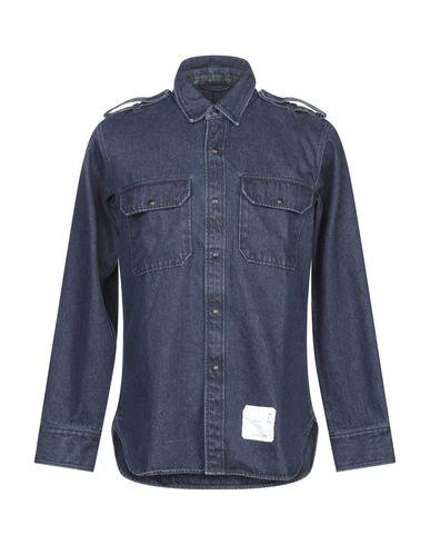 Фото - Джинсовая рубашка от DEPERLU синего цвета